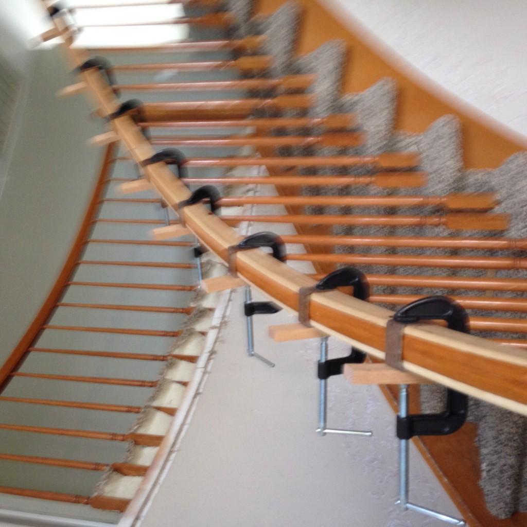 curve rail stair
